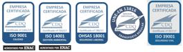 ISO 9001 / ISO 14001 / ISO 18001/UNE 13816/ISO 39001